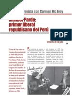 Mc Evoy, Carmen - Manuel Pardo Primer Liberal