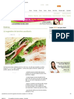 12 sugestões de lanches saudáveis - Cyberdiet