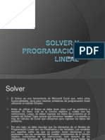 Solver y Programación Lineal