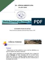 Aula Criminalística Ciências do Ambiente
