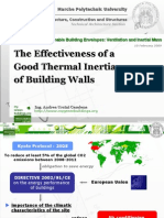 Strategies for Sustainable Building Envelopes_Ventilation and Inertial Mass - The Effectiveness of a Good Thermal Inertia of Building Walls