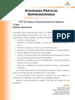 2013 1 CST ADS 1 Sistemas Operacionais