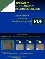 Unidad IV Identificacion y Clasificacion de Suelos