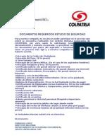 Documentos Requeridos Estudio de Seguridad Grupo Empresarial g&t