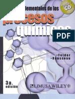 Felder- Principios elementales de los procesos químicos