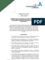 Acuerdo 007 de 2012
