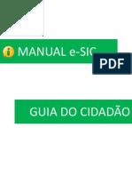 Manual E-sic - Guia Do Cidadao