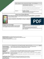 Problem Planning Form - Energy Efficiency
