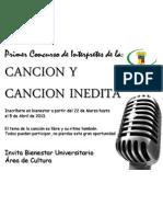 Concurso de Cancion Interprete y Cancion Inedita