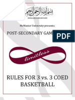 McMaster PSG 3 vs 3 Basketball Rules