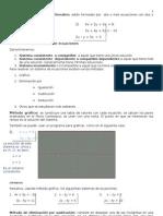 Sistemas de ecuaciones lineales con dos incógnitas