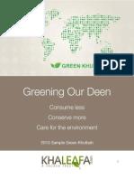 Think Green Khutbah April 19 2013