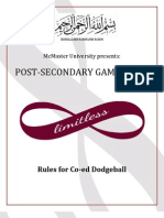 McMaster PSG Dodgeball Rules