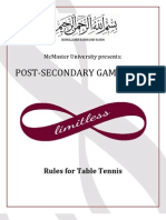 McMaster PSG Table Tennis Rules