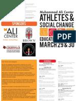 Muhammad Ali Athletes and Social Change Forum Program