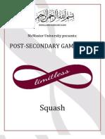 McMaster PSG Squash Rules