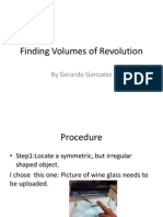 Finding Volumes of Revolution Project