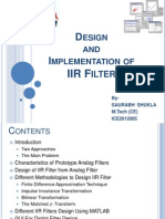 Design and Implementation of IIR Filter