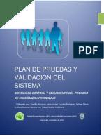Plan de Pruebas y Validacion Del Sistema Ejemplo