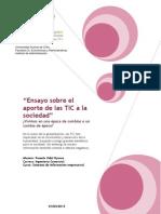 Ensayo Sobre El Aporte de Las TIC a La Sociedad by Pamela Vidal