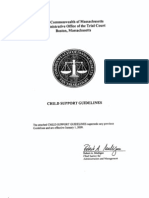 MASSACHUSETTS ~ Child Support Guidelines Enacted by Order and Effective January 1, 2009