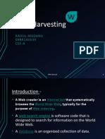 Web Harvesting Ppt
