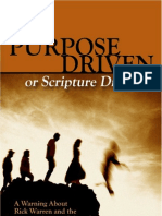 Purpose Driven or Scripture Driven