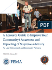 FEMA ImprovingSAR Guide----A Resource Improve Your Community's Awareness and Reporting Activity For Law Enforcement and Community Partners
