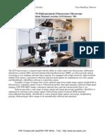 Olympus IX70 Fluorescence Microscope Operations Manual v2