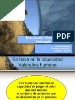 evaluación función y Concepto