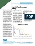 Characteristics of Metalworking Fluids Alkalinity