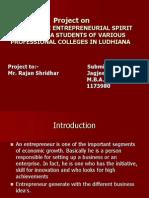 Final Project Report Entrepreneurship