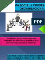 Sistema Social y Cultura Organizacional