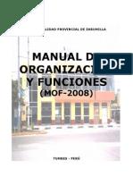 Plan 11767 Manual de Organizacion y Funciones (Mof) 2012