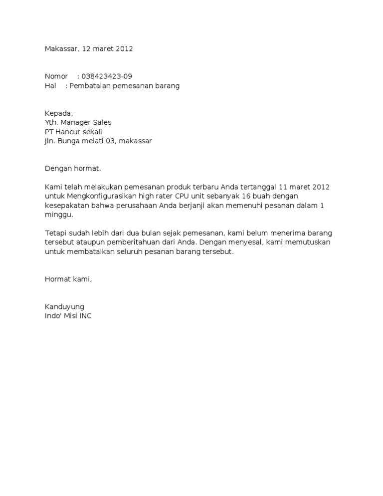 contoh surat pemesanan hotel dalam bentuk full block style surat 28