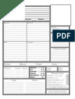 Mini Six Character Sheet