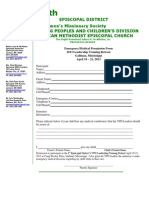 8th District Emergency Medical Form