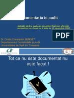 ISA 230 Documentatia in Audit
