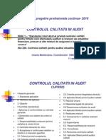 Isqc 1 Si Isa 220 Controlul Calitatii in Audit