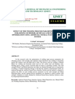 Effect of the Welding Process Parameter in Mmaw for Joining of Dissimilar Metals