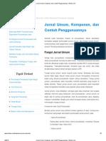 Jurnal Umum, Komponen, Dan Contoh Penggunaannya - Bimbie