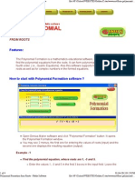 Polynomial Formation Form Roots - Maths Software