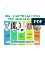 How to Control Your Nerves When Speaking In