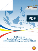 Guidelines on Developing Core Competencies in Competition Policy and Law for ASEAN