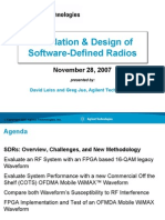 Simulation & Design of Software-Defined Radios