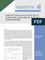 GSYH 2012-IV. Çeyrek Değerlendirmesi