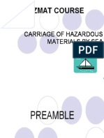 Carriage of Hazardous Materials by Sea