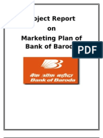 Project report on Bank of Baroda Marketing Plan.doc