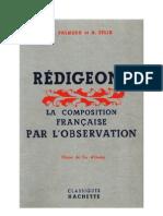Langue Française Rédigeons 03 Certificat d'Etude Palmero Felix