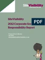 SiteVisibility 2012 CSR Report